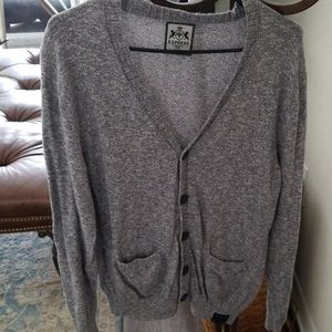 Express Men's Heather Gray Knit Cardigan Medium